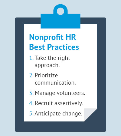 Use these nonprofit human resources best practices to guide your strategies.